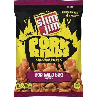 Slim Jim 2 Oz. Hogwild BBQ Pork Rinds